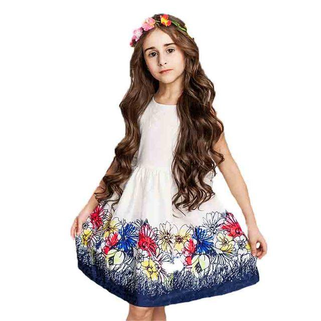 ce2c543d4 Childddkivy 2-8 años 2018 niñas vestido verano niños vestidos niña princesa  vestido de noche