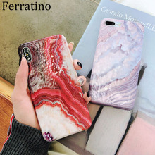 Red Agate Marble Case For iPhone 7 XS MAX Case Soft TPU Back Cover For iPhone 6 6S 7 8 Plus iPhone X XR  Phone Case Cover Coque цена и фото