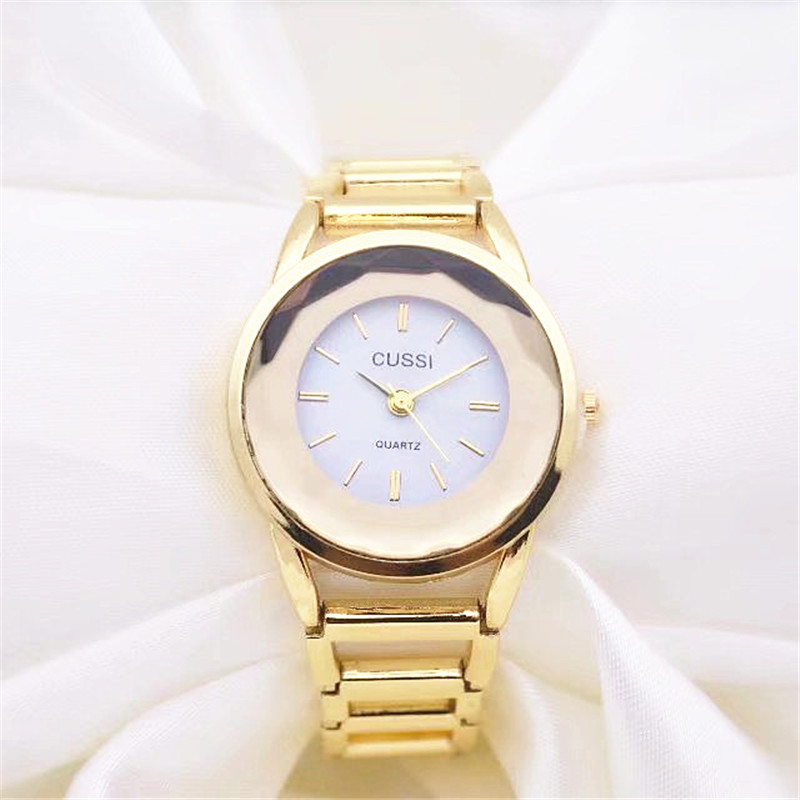 CUSSI New Golden Luxury Watches Women Fashion Casual Ladies Watches Quartz Wristwatches relogio feminino reloj mujer Gift Clock top ochstin brand luxury watches women 2017 new fashion quartz watch relogio feminino clock ladies dress reloj mujer