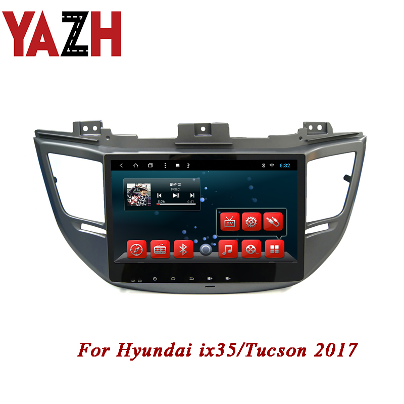 YAZH 2 Din Android Full HD Touch Screen 8 Core System for Hyundai ix35 Tucson 2017