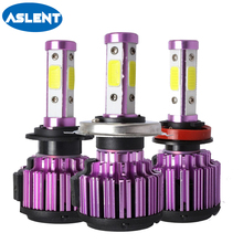 Aslent Anti-emc H4 H7 LED Car Headlight Kit 100W 10000LM/Set H9 H11 9005 HB3 9006 HB4 H8 9004 9012 6500K Bulbs Accessories