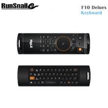 2017 Меле F10 deluxe 2.4 ГГц Беспроводной Gaming дистанционного клавиатуры Fly Air Mouse пульт дистанционного управления для Smart Android TV коробок мини-ПК