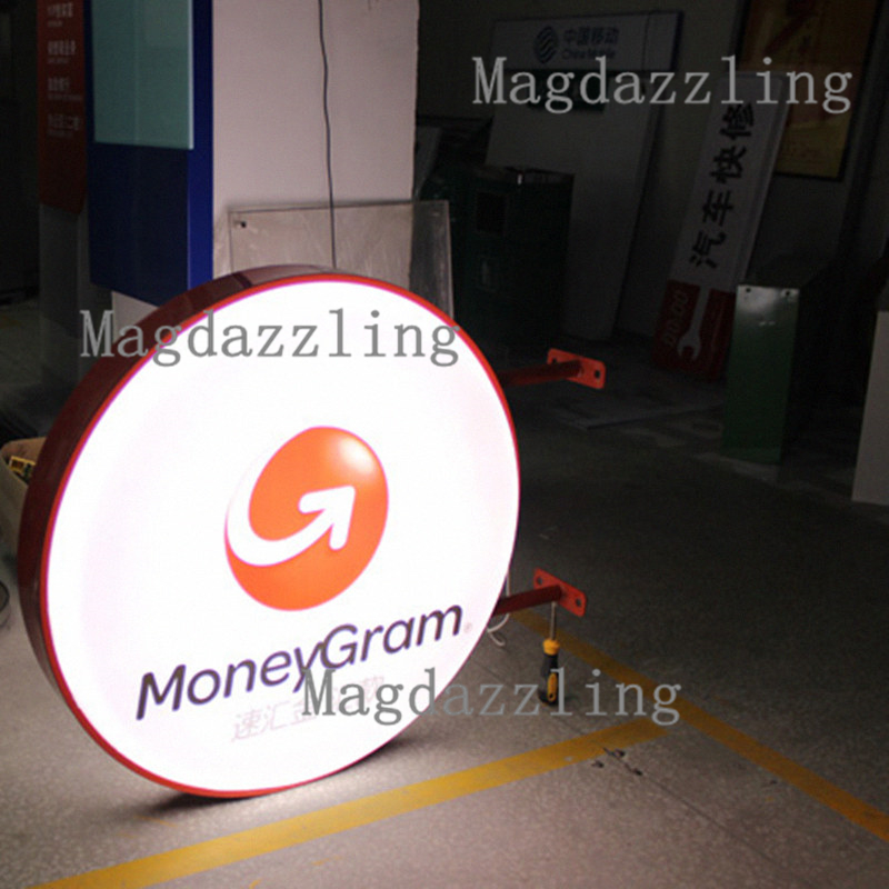 Outdoor Waterproof Double Sided Round Led Lightbox
