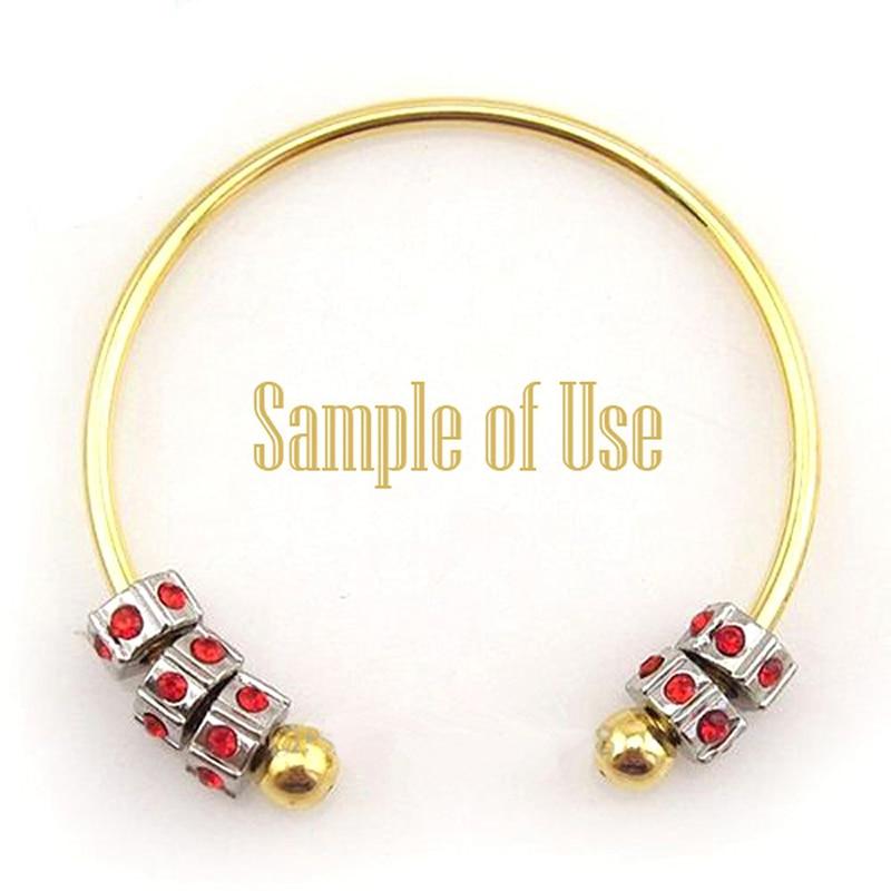 BS001-15 DIY bangle bracelets for women stainless steel