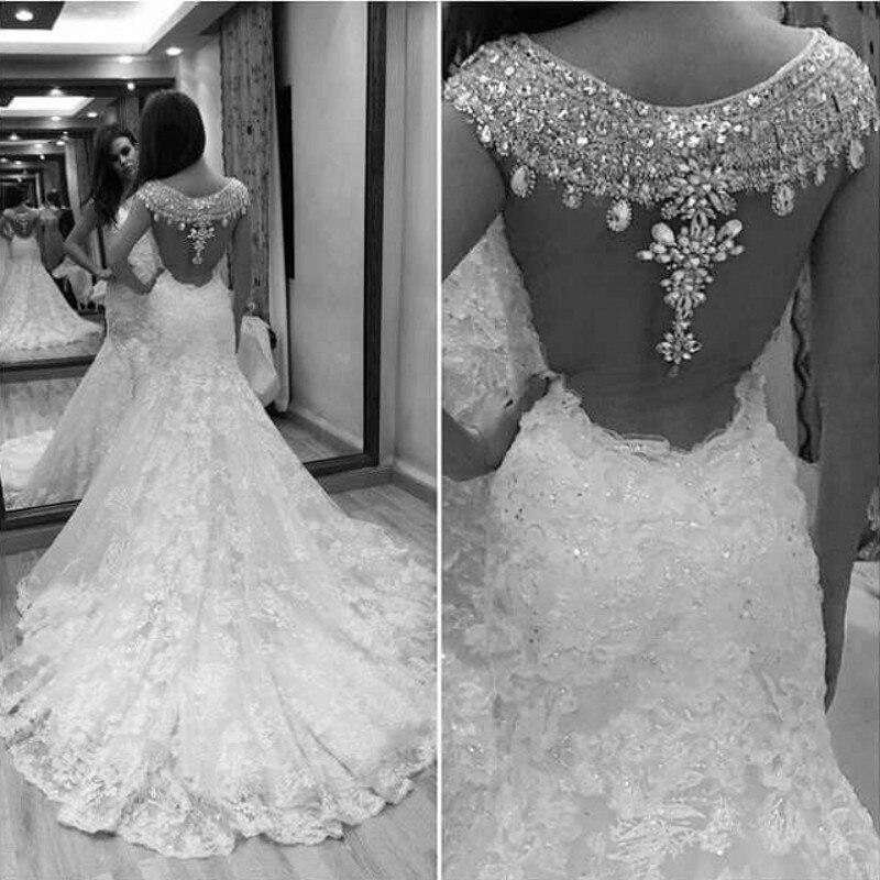 Crystal Design 2016 Wedding Dresses: Popular Lace Mermaid Wedding Dress-Buy Cheap Lace Mermaid