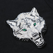 2017 Brand Men's Wolf embroidery Tshirt Cotton Short Sleeve T Shirt Spring Summer Casual Men's O neck Slim T-Shirts Size S-5XL