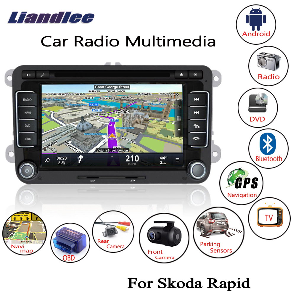 Liandlee 2 Din Android For Skoda Rapid 2012 2018 Car Radio CD DVD Player GPS Navi