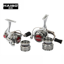 HAIBO Double Spools High-strength Material 8Ball Bearing10S/20S Spinning Fishing Reel(China)