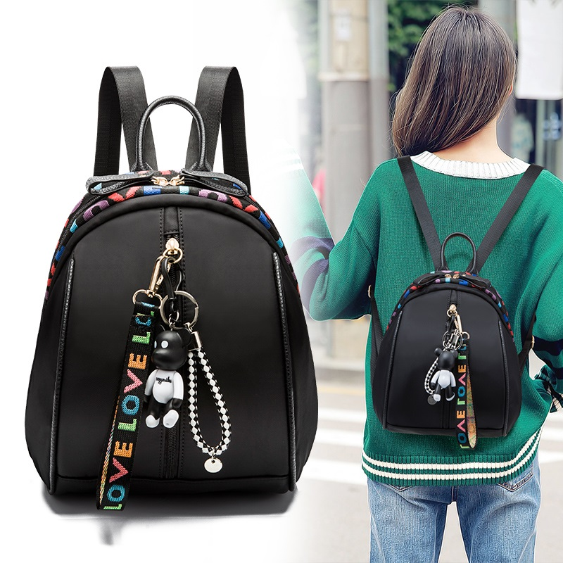Fashion backpack Oxford cloth shoulder bag female mini bag summer cute cute 2018 new Korean version of the wild korean version canvas shoulder bag backpack student bag ladies cartoon cute new child birthday gift