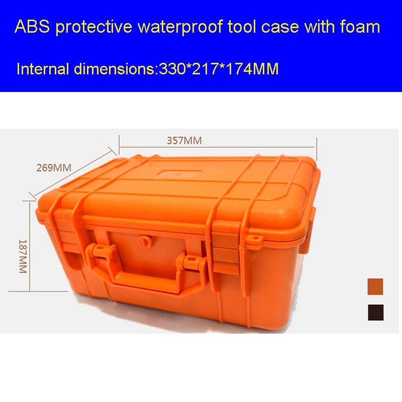 Tööriistakasti tööriistakast löögikindlast suletud veekindlast tühjast korpist 357 * 269 * 187MM turvaseadmete kaitseümbrise kasti tööriistakast