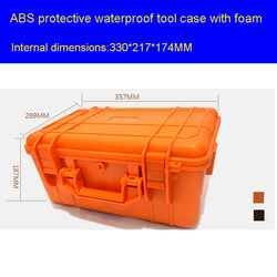 Tool case toolbox Impact resistant sealed waterproof safe empty case 357*269*187MM security equipment encosure box tool case