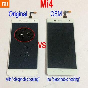 100% getestet Original Beste Xiao mi 4 mi 4 M4 mi 4 Sensor Volle LCD Display Touchscreen Digitizer Montage oder mit rahmen Telefon Teile