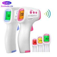 Cofoe אינפרא אדום קדמי מדחום לא מגע לייזר דיגיטלי LCD גוף טמפרטורה אקדח Termometro עבור התינוק למבוגרים