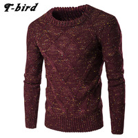 Sweater Men 2017 Brand Thickening Pullover Sweater Male O Neck Color Dot Slim Fit Knitting Mens