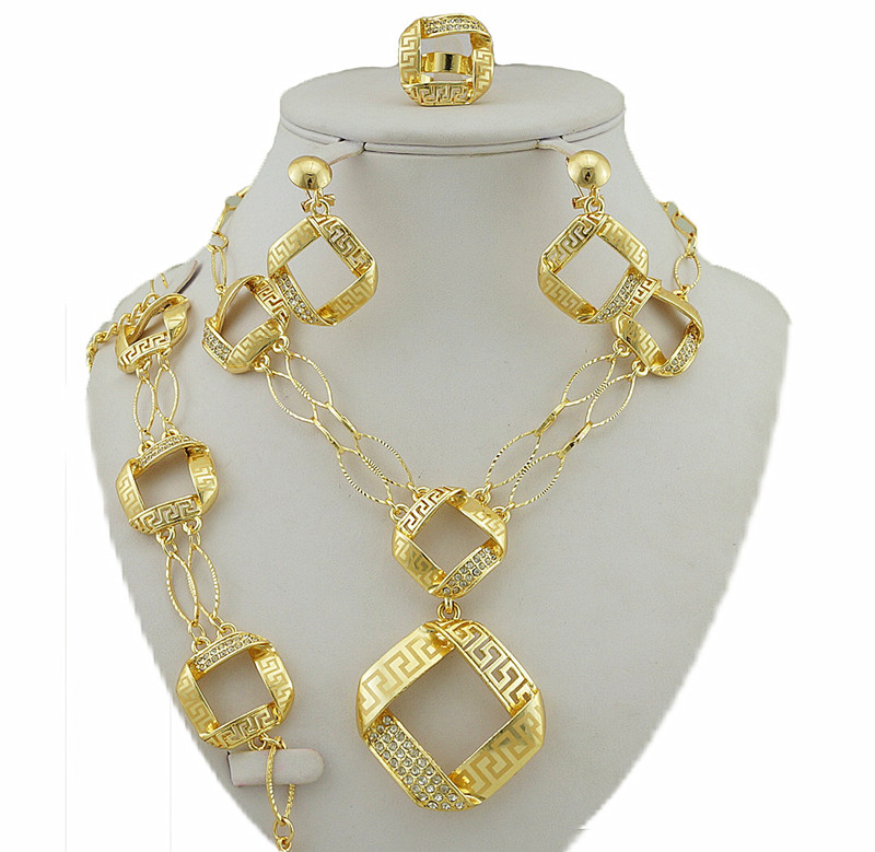 African Jewelry Sets Women Necklace Best Quality Costume Bridal Fashion Gold In From Accessories On