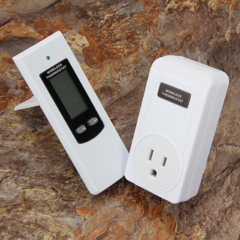 Image 5 - TS 808 Wireless Thermostat Temperature Controller Socket with Green Backlight Digital Thermostat Remote Control US/UK/EU Plug-in Electrical Sockets from Home Improvement
