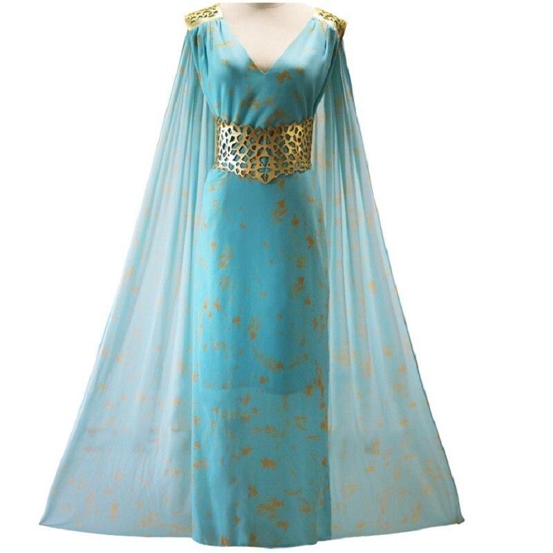 A Song of Ice and Fire Game of Thrones Daenerys Targaryen Cospaly Dress / Daenerys Targaryen halloween costume wig dragon adult