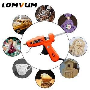 Image 5 - LOMVUM NEUE Farbe Professionelle High Temp Hot Melt Kleber Pistole 150W Graft Pistole Pneumatische DIY Werkzeuge 15 freies Kleber Sticks