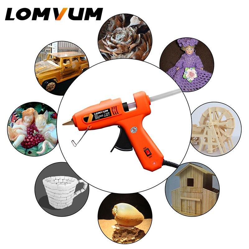 Image 5 - LOMVUM NEW Color Professional High Temp Hot Melt Glue Gun 150W Graft Repair Heat Gun Pneumatic DIY Tools  15 Free Glue Sticks-in Glue Guns from Tools on