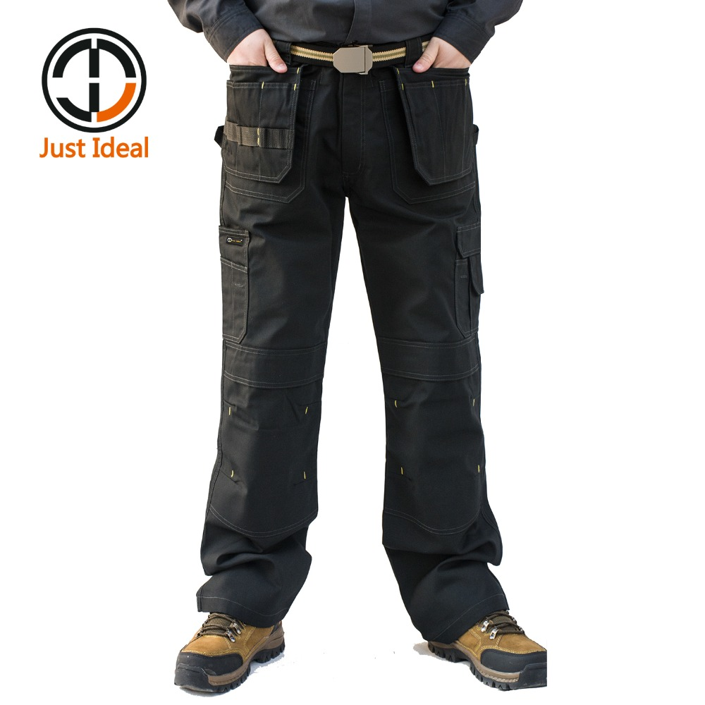 Mens Heavy Duty Cargo Pants Multi Pockets Canvas Pant Casual Work Wear Military Tactical Long Full Length Trousers ID627 image