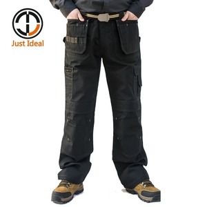 Image 1 - Mens Heavy Duty Cargo Pants Multi Pockets Canvas Pant Casual Work Wear Military Tactical Long Full Length Trousers ID627