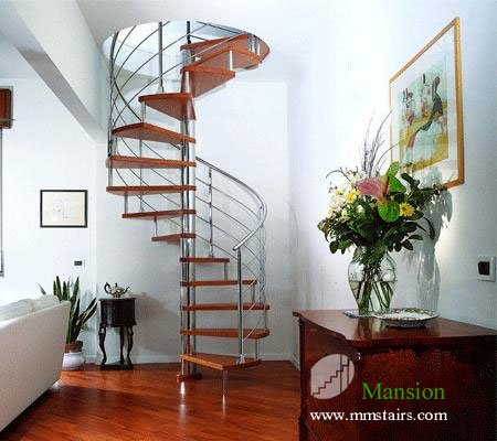 DIY Stainless Steel Spiral Stairs (solid Wood Treads)