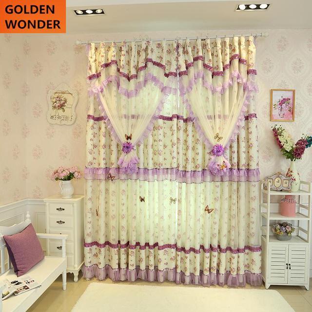 Fertige Spitze Prinzessin Schöne Vorhänge Für Wohnzimmer Fenstervorhang  Hochzeit Vorhänge Für Schlafzimmer Raumteiler