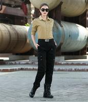 New Freedom Knight Women Military Cargo Pants Female Soldier Training Dance Spring Autumn Outdoors Black Green Casual Trousers