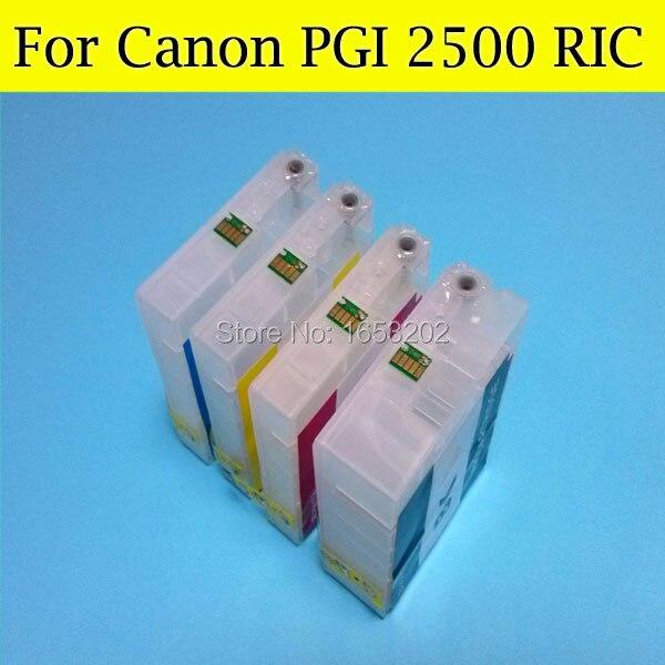 4 PCS/Lot Refillable Ink Cartridge For Canon PGI 2500 PGI2500XL Ink Catridge For Canon MB4050 MB5050 With Auto Reset Chip ostin юбка карандаш из плотного трикотажа