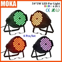 4pcs Lot 2016 Led Par Light 54 3w China Disco Lights Dmx Rgbw 4in1 Party Lights