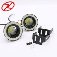 2pcs Angel Eyes Fog Lamp 64mm 76mm 89mm 12V Universal COB LED DRL Fog Driving Lights