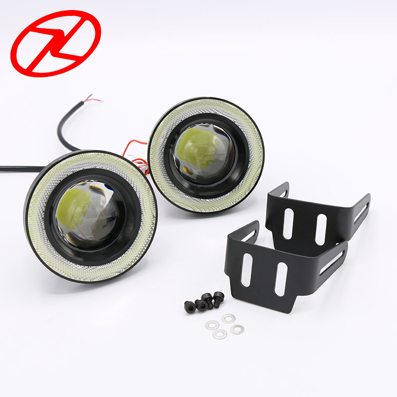 2pcs Angel Eyes Fog Lamp 64mm 76mm 89mm 12V Universal COB LED DRL Fog Driving Lights white blue pink yellow green red ice blue free shipping kia k5 exclusive use led angel eyes square round shape full set custom made drl two colors white yellow 18w 12v