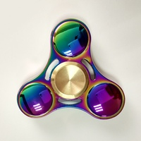 Colorful Fidget Spinner Metal EDC Tri Bar Hand Spinner Finger Spin Made Focus Toy Rotate For