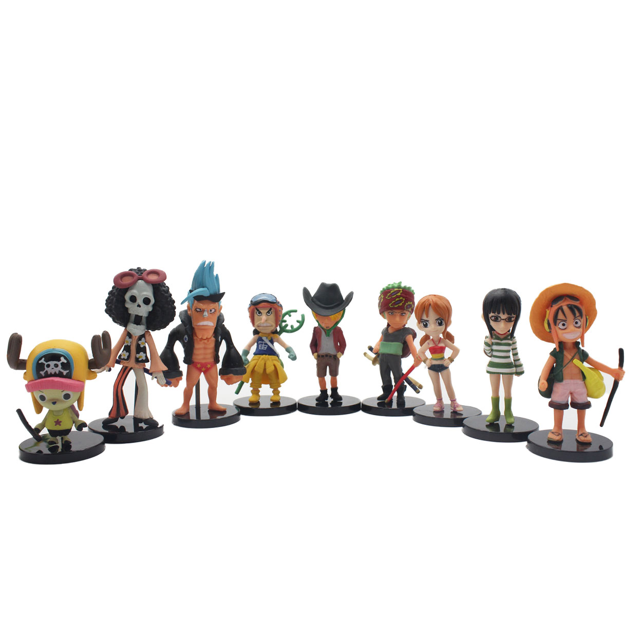 Chanycore The Movie 8CM 9pcs/set One Piece New World Anime Figuarts SPECIAL MH POP Luffy Figuarts zoro nami Action Figure Limit