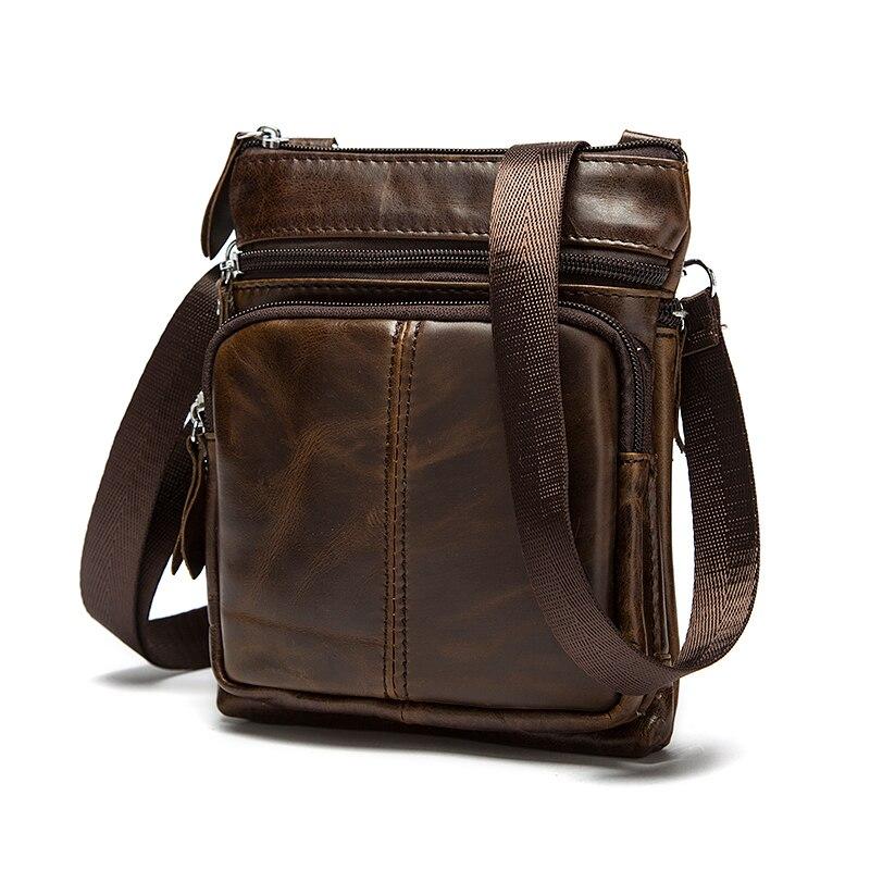 HTB1iSE9XdjvK1RjSspiq6AEqXXaL Messenger Bag Men's Shoulder Genuine Leather bags Flap Small male man Crossbody bags for men natural Leather bag