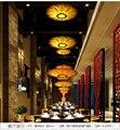 Bambus Furnier pendelleuchten einzigartige wohnzimmer restaurant club hotel holz Loft Gartenterrasse pendelleuchten ZA