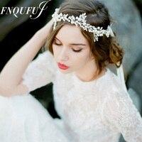 Handmade Bridal Headpiece Vintage Tiara Wedding Hair Accessories Vintage Headbands For Women Beaded Hair Jewelry