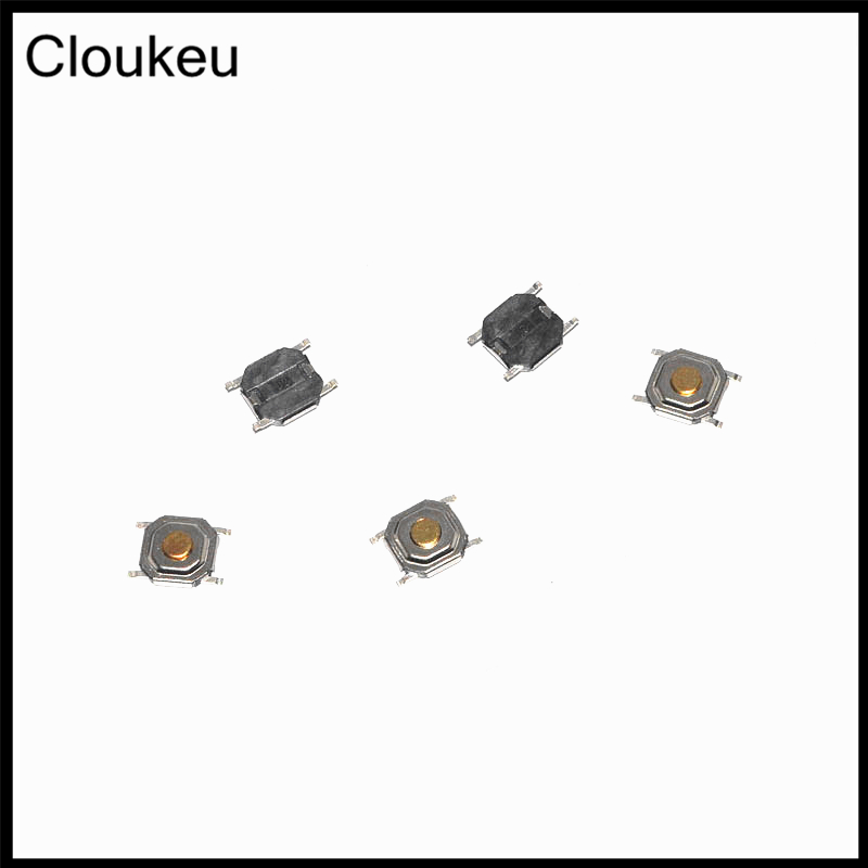 50Pcs Copper SMD 4x4 Tact Push Button Switch 4*4*1.5MM 1.6/1.7/1.9/2/2.3/2.5/3/3.5/4/4.3/5/6/7/8/9 50pcs lot 6x6x7mm 4pin g92 tactile tact push button micro switch direct self reset dip top copper free shipping russia