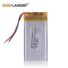 Контроль заряда батареи видеорегистратор prestigio roadrunner 525 Перезаряжаемые литий-ионный полимерный аккумулятор 3,7 v 380 mah 402040