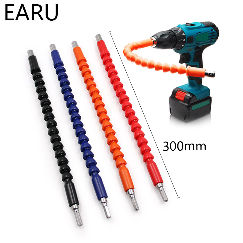 1/4 Flexible Shaft Electronic Drill Screwdriver Bit Holder Connect Link Multitul Hex Shank Extension Bit Multitool Car Repair