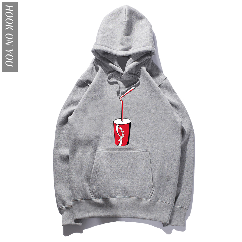2018 New Fashion Harajuku Men/Women Hoodie Print Coke Hip Hop Brand Hoody Autumn Tops Long Sleeve Sweatshirts Hooded Loose