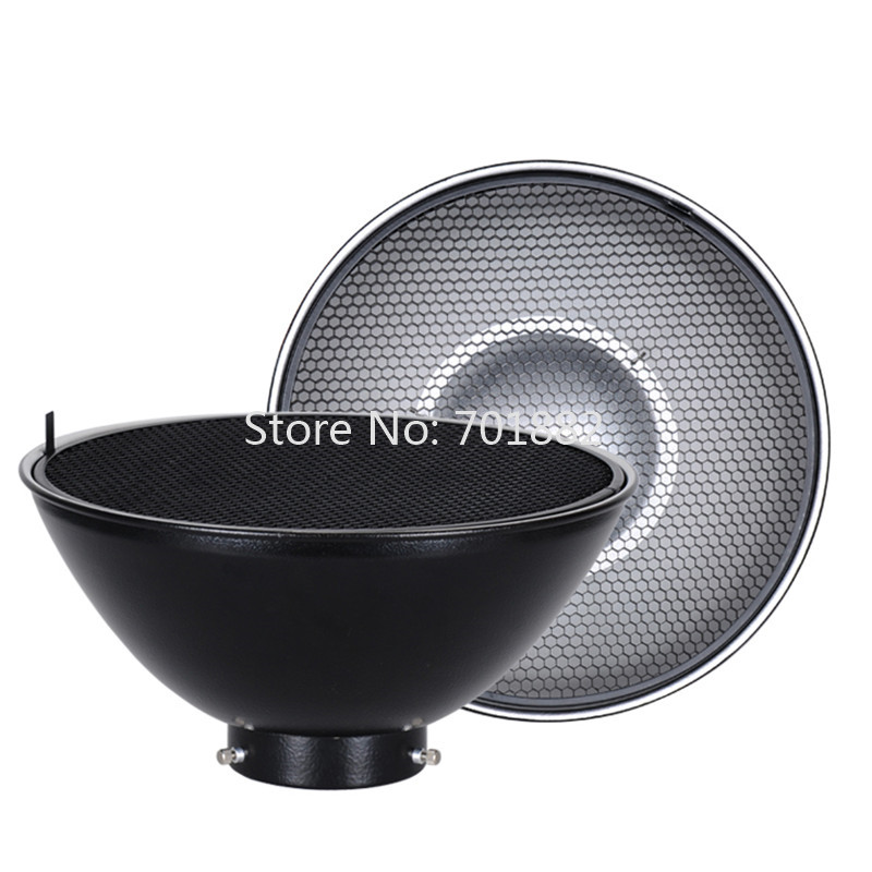 NiceFoto RS-300 Mini Mount Beauty Dish include 300mm Honeycomb Grid Fit for Studio Flash Strobe ashanks 55cm 22 studio silver beauty dish bowens mount honeycomb grid diffuser sock