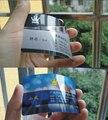 Brilhante PVC cartões de visita impressão de dois lados impresso, 0.38 mm de espessura