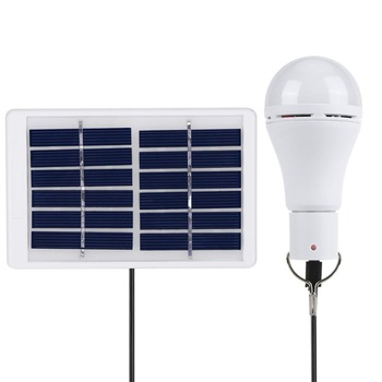 Portable Solar Light USB Rechargeable Solar Powered Energy Bulb Lamp 5 Modes 20 COB LED for Outdoors Camping Solar Lamp 4