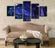 Живопись Художественная стена Модульная картина для гостиной 5 панель фильм сцена Аватара домашний декор