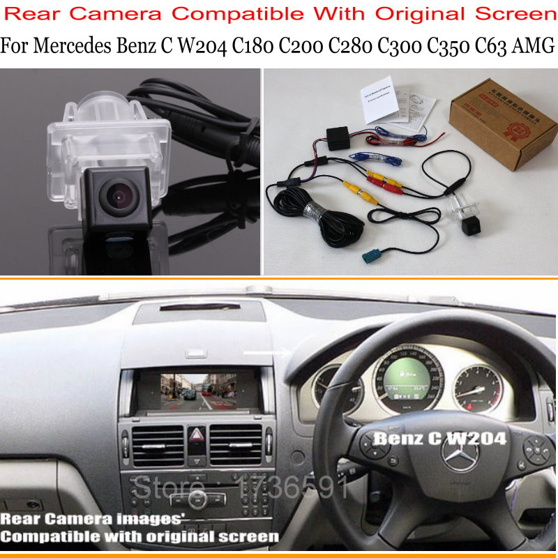 For Mercedes Benz C Class W204 C180 C200 C280 C300 C350 C63 / RCA & Original Screen Compatible Sets Reverse Rear View Camera