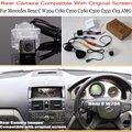 Per Mercedes Benz Classe C W204 C180 C200 C280 C300 C350 C63/RCA e Dello Schermo Originale Compatibile Set Reverse videocamera vista posteriore|Fotocamera per auto|Automobili e motocicli -
