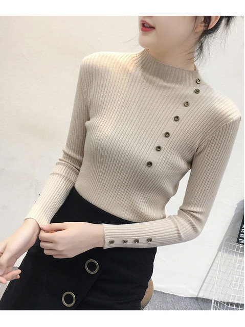 Women Sweater Turtleneck Sweaters Women Korean Fashion Woman Knitted Sweater Women Sweaters and Pullovers Winter Clothes Women 34