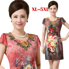 911bc23ed4c 2018 Women s beautiful Dresses ClothingFashion plus size big size 5XL Stereo  printing summer Dress women one