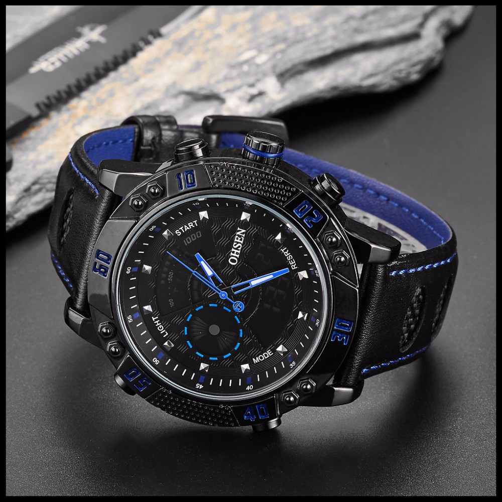 OHSEN Brand Mens Fashion Casual Reloj Quartz Watch Digital LED Relogios Military Relogio Masculino Diving Waterproof Men Watches (26)